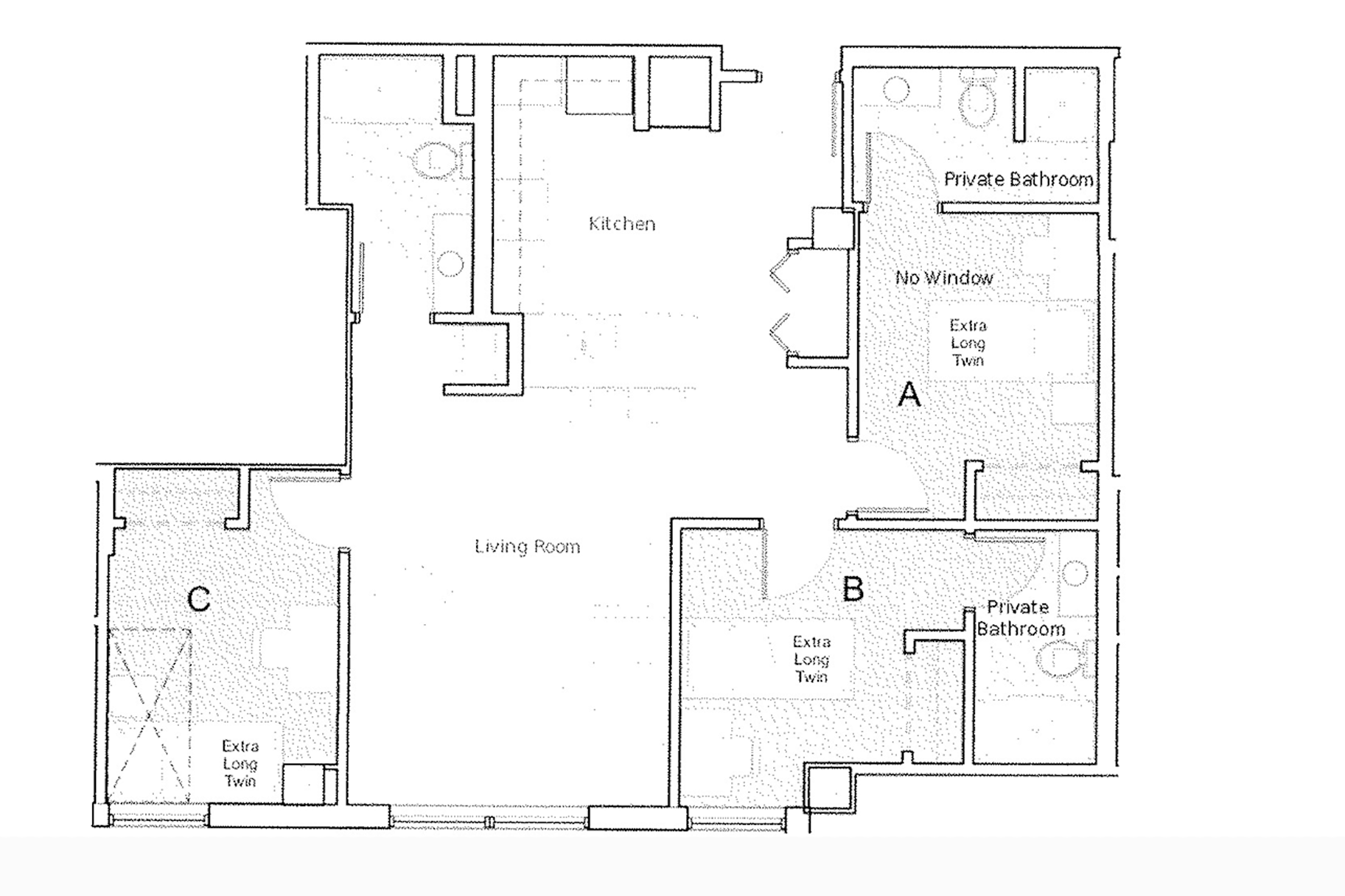 Traditional Apartment Layout option for 318